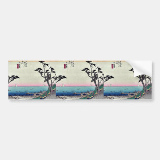 Shirasuka by Ando, Hiroshige Ukiyoe Bumper Stickers