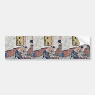 Shirasuka  by Katsushika, Hokusai Ukiyoe Bumper Sticker
