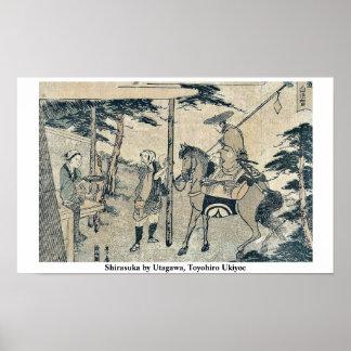 Shirasuka by Utagawa, Toyohiro Ukiyoe Poster