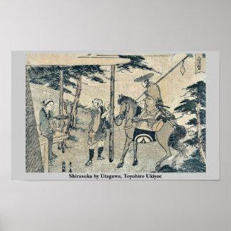 Shirasuka by Utagawa, Toyohiro Ukiyoe Posters