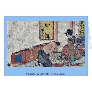 Shirasuka por Katsushika, Hokusai Ukiyoe Tarjeta De Felicitación