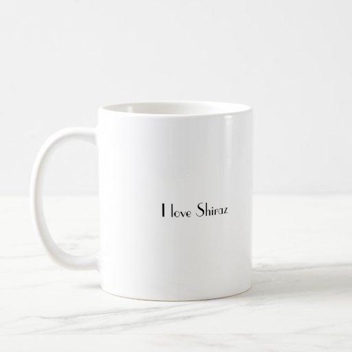 Shiraz1, I love Shiraz Mugs