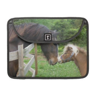 Shire draft horse and miniature making firends MacBook pro sleeve