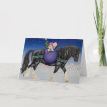 Shire Draft Horse Christmas Holiday Card