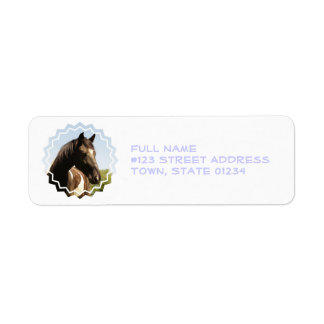Shire Draft Horse Mailing Label
