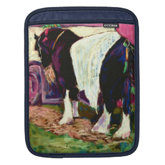 Shire Horse at Welsh Rally iPad Sleeve