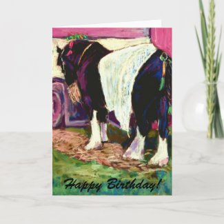 Shire Horse Birthday Card card