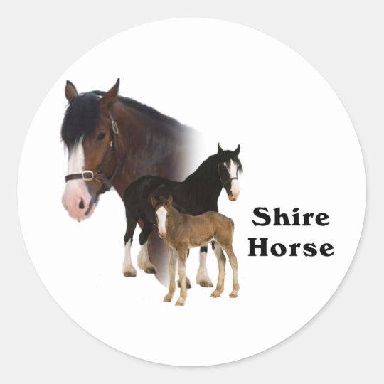 Shire Horse Classic Round Sticker