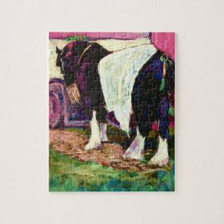 'Shire Horse' Fine Art Soft Pastel Painting Jigsaw Puzzle
