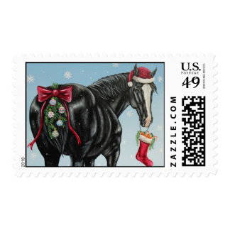 Shire Horse Holiday Postage Stamp