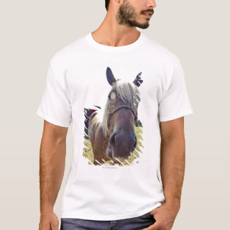 SHIRE HORSE IN SUNLIGHT WITH NOSE UP TO CAMERA T-Shirt