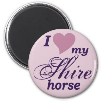 Shire horse fridge magnets