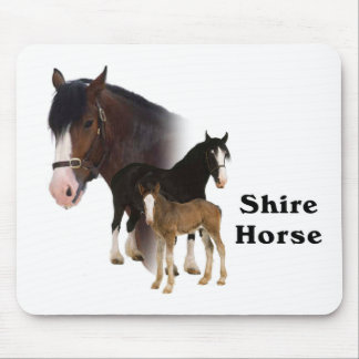 Shire Horse Mouse Pad