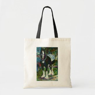 Shire Horse Tote Bag bag