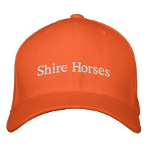 Shire Horses Embroidered Baseball Hat