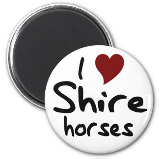 Shire horses fridge magnet