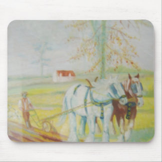 shire horses mouse pad