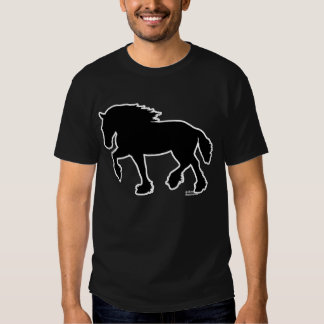 Shire or Clydesdale Draft Horse Silhouette Shirt