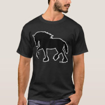 Shire or Clydesdale Draft Horse Silhouette T-Shirt