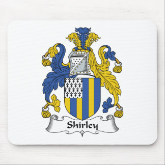 Shirley Family Crest Mouse Mats
