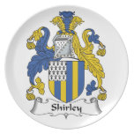 Shirley Family Crest Party Plates