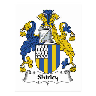 Shirley Family Crest Postcard