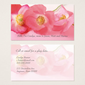 Shirley poppies up close mom business card