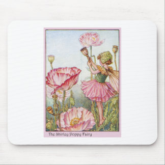 Shirley Poppy  Fairy Mouse Pad
