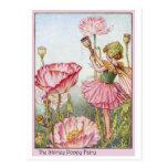 Shirley Poppy  Fairy Postcard
