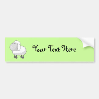 Shirley the Cute Cartoon Sheep Bumper Sticker