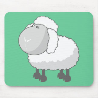 Shirley the Cute Cartoon Sheep Mouse Pads