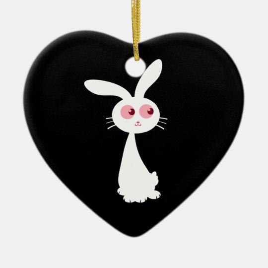 Shiro Bunny I Ceramic Ornament