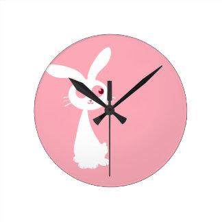 Shiro Bunny III Round Clock