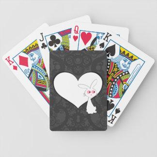 Shiro Bunny Love I Bicycle Playing Cards