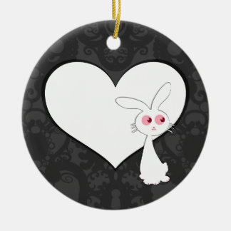 Shiro Bunny Love I Christmas Ornaments