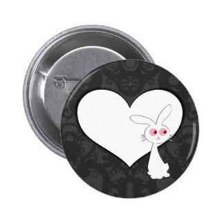 Shiro Bunny Love I Pinback Button
