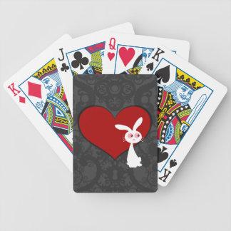 Shiro Bunny Love II Bicycle Playing Cards