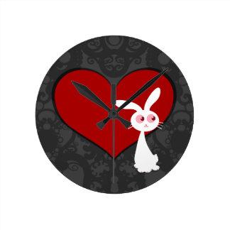 Shiro Bunny Love II Round Clock