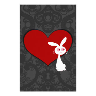 Shiro Bunny Love II Stationery Design
