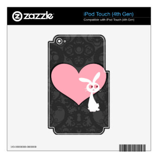 Shiro Bunny Love IV iPod Touch 4G Decals
