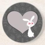 Shiro Bunny Love V Beverage Coasters