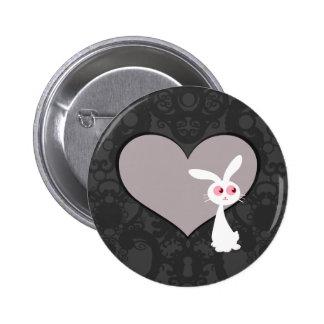 Shiro Bunny Love V Pinback Button