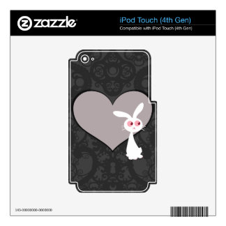 Shiro Bunny Love V Skins For iPod Touch 4G