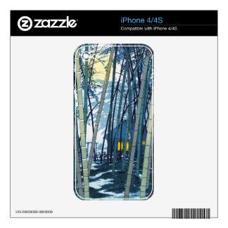 Shiro Kasamatsu Bamboo in Early Summer art Skin For The iPhone 4