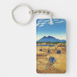 Shiro Kasamatsu Harvest Time Shin Hanga japan art Keychains