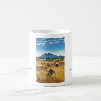 Shiro Kasamatsu Harvest Time Shin Hanga japan art Classic White Coffee Mug