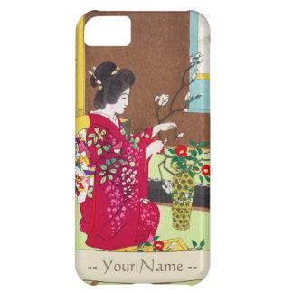 Shiro Kasamatsu Ikebana japan flowers lady scene Cover For iPhone 5C