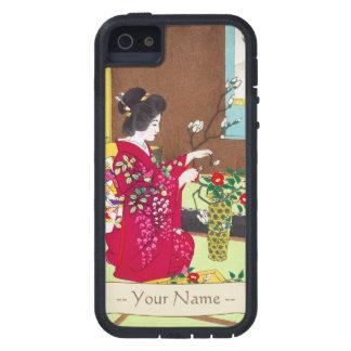 Shiro Kasamatsu Ikebana japan flowers lady scene iPhone SE/5/5s Case