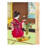 Shiro Kasamatsu Ikebana Japón florece escena de la Tarjetas Postales