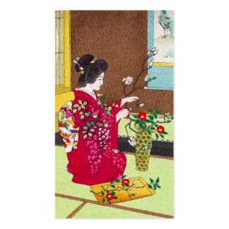 Shiro Kasamatsu Ikebana Japón florece escena de la Tarjetas De Visita